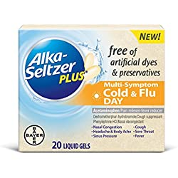 Alka-Seltzer Plus Free Cold and Flu Day Liquid Gels, 20 Count