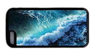 Hipster amazing iPhone 5C cover sea wave Black for Apple iPhone 5C