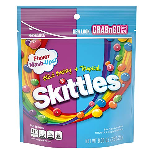SKITTLES Mash-Ups Wild Berry and Tropical Candy, 9-Ounce Bag (Cheap Stuffs Under 1 Dollar)