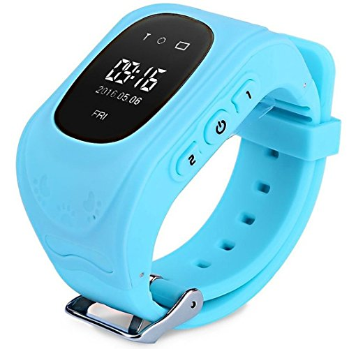 Themoemoe Q50 Children Smart Watch for Kids Girls Boys Christmas Gifts with GPS Tracker SOS Call Location Anti-lost Remote Monitor Pedometer SmartWatch for iPhone Android Smartphones (Blue)