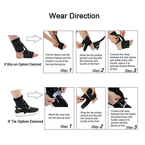 Right or Left Drop Foot Brace,Plantar Fasciitis Splint,Day/Night Dorsal Splint,Foot up Brace Prevent Dragging,Ware Barefoot/Inside Shoes,for Stroke,Achilles Tendonitis,Muscular Distrophy by igoeshopping (Image #6)
