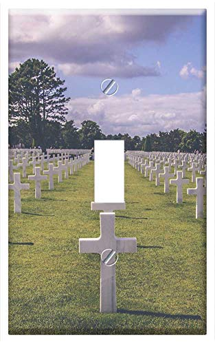 Switch Plate Single Toggle - Graveyard Military Cemetery War Soldier Grave ()