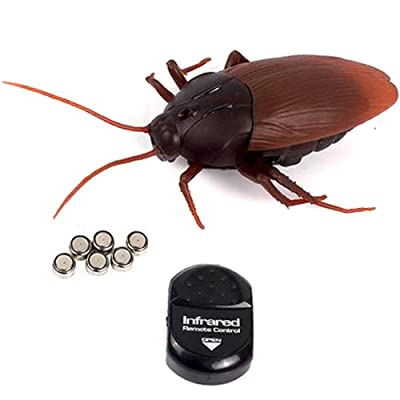 NiGHT LiONS TECH Realistic Remote Control cockroach Toy Joke Scary Trick Funny Toy for Partys or Halloween Prank: Toys & Games