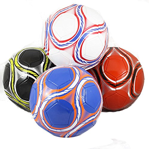 Assortment of Wholesale Size 5 Soccer Balls 4 Per Case - Wholesale Children's Toys - Case of 36 by David's Wholesale