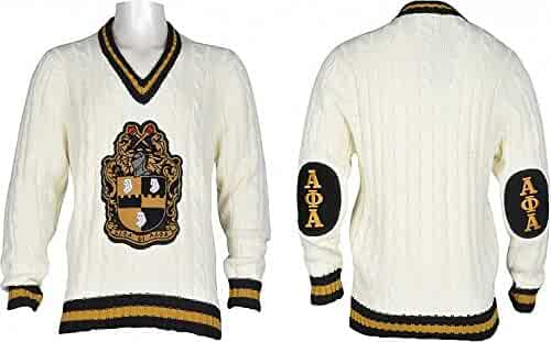 c35b40d3c815 Cultural Exchange Buffalo Dallas Alpha Phi Alpha Shield Fraternity Mens  V-Neck Sweater