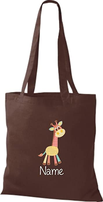 Organic Gymsac mit süßen Motiven Giraffe Sporttaschen & Rucksäcke