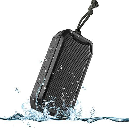 Bluetooth Speaker, KKUYI Portable wireless speaker, Loud Stereo Sound, 1200mAh Battery, IPX7 Waterproof Speaker for Home, Office, Party, Beach, Shower