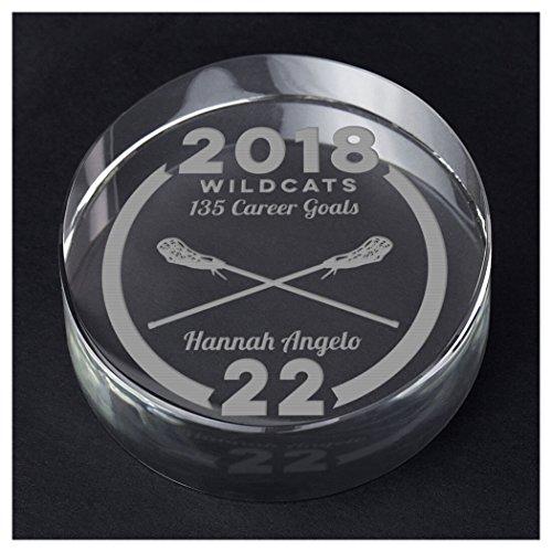 ChalkTalkSPORTS Girls Lacrosse Personalized Crystal Award Gift | Custom Team Award by ChalkTalkSPORTS
