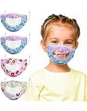 Kids Fabric Balaclava Bandana Cover,4Pcs Adjustable Reusable Washable Mask,Fashion Cotton Cloth for Face Protection