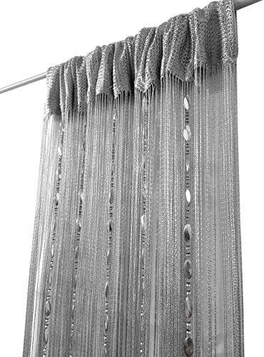 Curtain String Door Curtain Room Divider Tassel Fringe Window Panel AL
