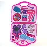 Fajiabao New Portable Kids Pretend Play Makeup Toy Set-Great Girl Pink Gift