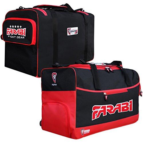 Farabi, Fitness-Studio Fitness Sportzeug Tasche, MMA, Boxen Ausrüstungstasche, Reisetasche Trainingsausrüstung Reisetasche (rot)