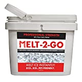 Snow Joe AZ-25-CCP-BKT Melt-2-Go 94% Pure Calcium Chloride Pellet Ice Melter, 25-lb Flip-Top Bucket W/Scooper