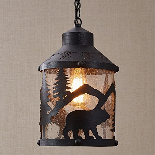 Iron Outdoor Pendant Lights in US - 9