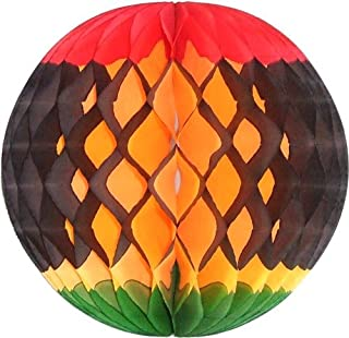 product image for 3-Pack 8 Inch Kwanzaa Decoration Honeycomb Tissue Balls