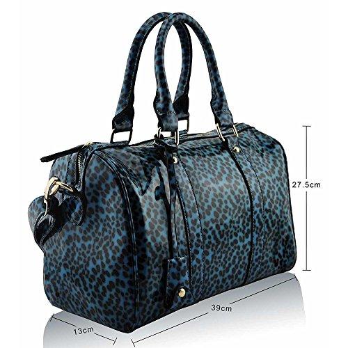 Asa De hombro Trendstar En La parte superior De La moda De las mujeres bolsos De mano, piel sintética, ORT.K7051-Petate Célébrité Style A H - Emerald