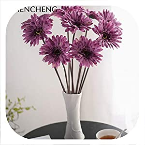 Memoirs- 48CM High 5 Pieces Spring Lovely Daisy Silk Samll Sunflower Home Decoration Photo Props Artificial Chrysanthemum 28