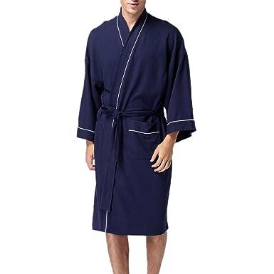 Weiche Frauen Männer Waffel Kimono Lange Unisex Spa Bademantel ...
