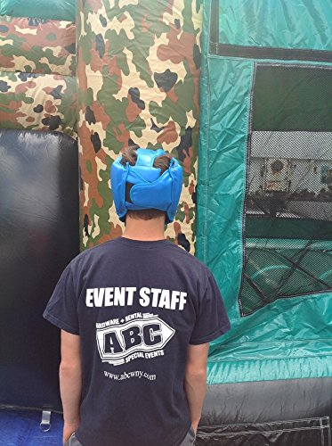 Replacement Blue Boxing and Jousting Helmet and Headgear with Reinforced Seams for Interactive Inflatable Fighting Arena or Ring Games, Universal Size by TentandTable (Image #5)