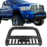 Bull Bar Fits 2002-2005 Dodge Ram 1500 2003-2009 Ram 2500 3500 | Black Front Bumper Grill Guard by IKON MOTORSPORTS | 2003 2004