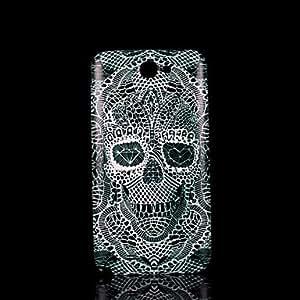 WQQ cubierta del patrón del cráneo fo Samsung Galaxy Note 2 N7100 caso