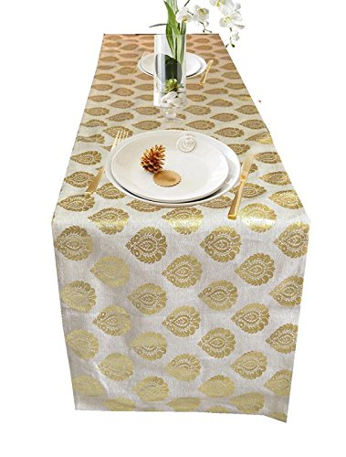 PINK PARROT Durable Dopian Silk Table Runner (13 x 70 Inch) - 1 Piece