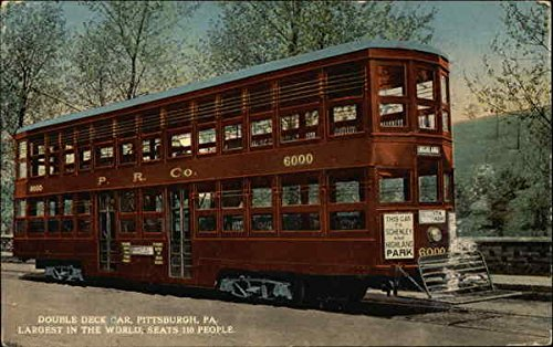 - Double Deck Car - Schenley & Highland Park Pittsburgh, Pennsylvania Original Vintage Postcard