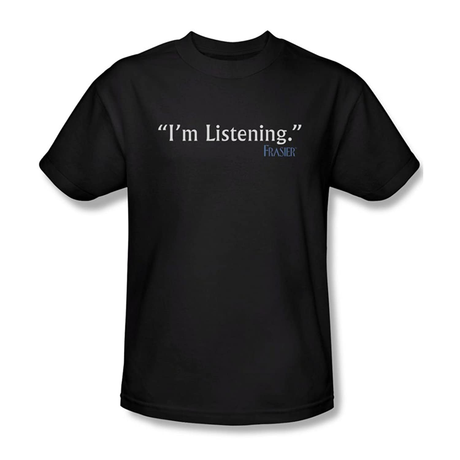 Frasier - Mens I'M Listening T-Shirt In Black