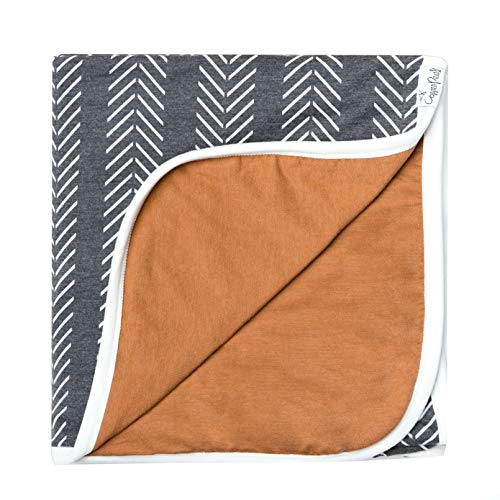 """Large Premium Knit Baby 3 Layer Stretchy Quilt Blanket""""Canyon"""" by Copper Pearl"""