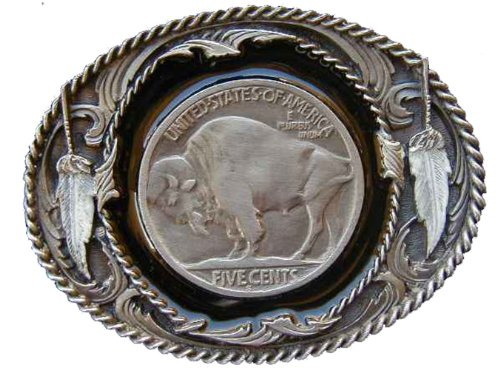 Western style buffalo nickel Novelty Belt Buckle (Buffalo Buckle)