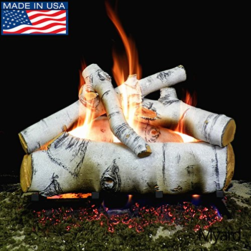 birch logs for gas fireplace - 7