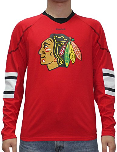 fan products of NHL CHICAGO BLACKHAWKS Mens Game Day Hockey Training Shirt XL Red