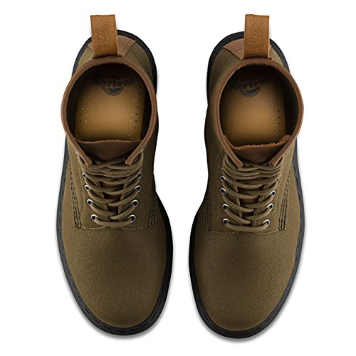 Mens Mens Mens Green Dr Dr Dr Canvas Boots Laredo Waxy Martens New 5xwgxFR