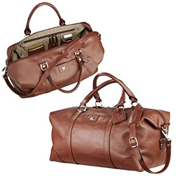 Cutter & Buck 9800-83CT Leather Weekender Duffel - Chestnut