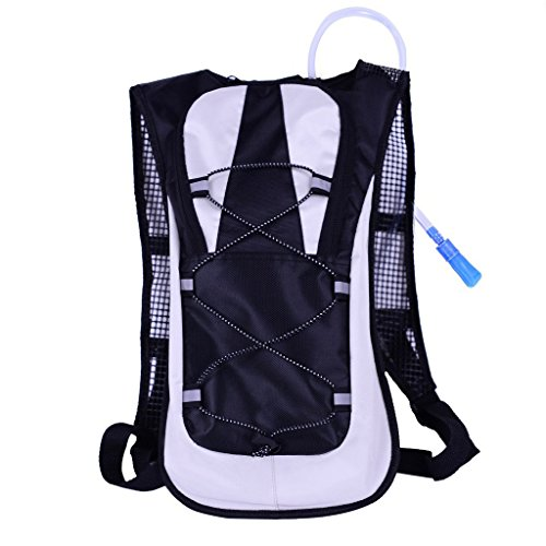 Sportsun Hydration Backpack for Running Hiking Cycling Climbing, with 2L TPU Hydration Bladder, Black color