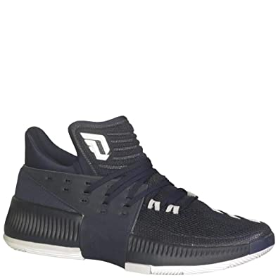 the best attitude ee159 50269 adidas Dame 3 Shoe Mens Basketball 4 Collegiate Navy-White