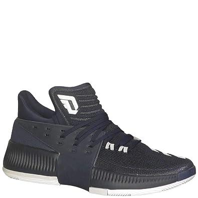 the best attitude f065c 89569 adidas Dame 3 Shoe Mens Basketball 4 Collegiate Navy-White