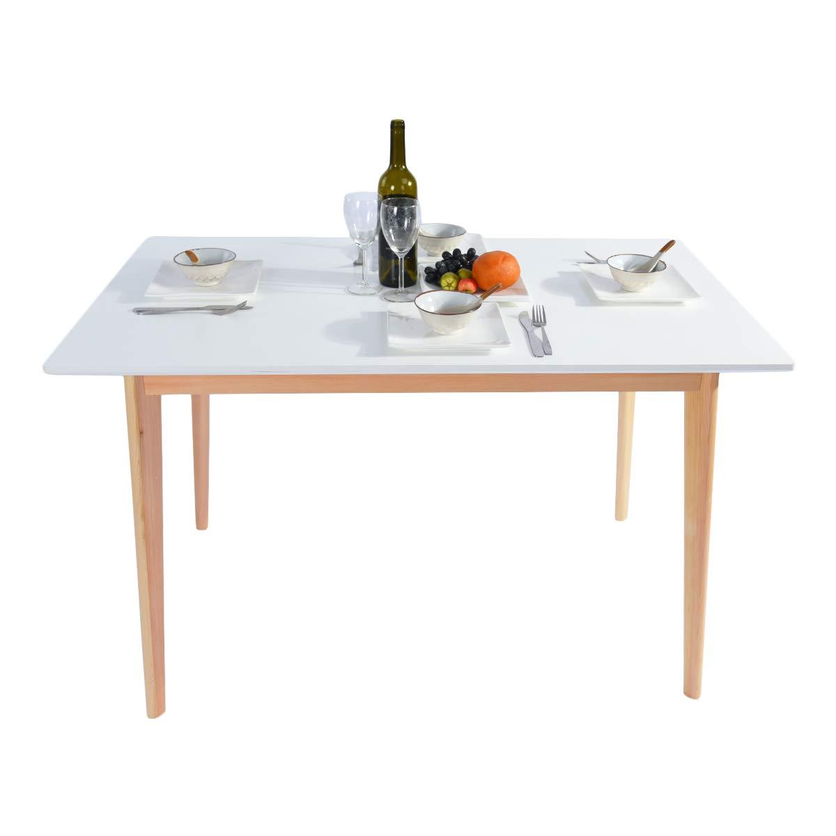 Furniture-R - Mesa de Comedor Estilo escandinavo, Color Blanco ...