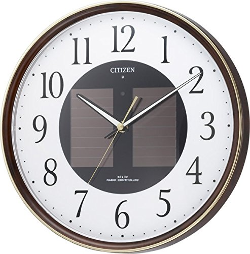 CITIZEN ( Citizen ) wall clock Eco Life M807 radio clock solar power Eco Mark 4MY807-023 by Rhythm Clock