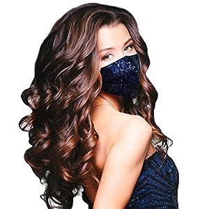 Sequin Handmade Face Masks - Midnight Blue