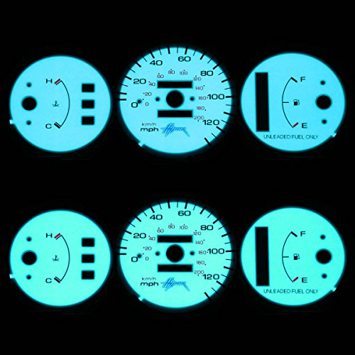 - For Honda Civic Indiglo Reverse Glow Gauge - EG EH AT (No Tachnometer)