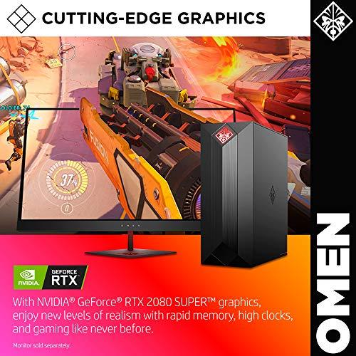 OMEN by HP Obelisk Gaming Desktop Computer, 9th Generation Intel Core i9-9900K Processor, NVIDIA GeForce RTX 2080 SUPER 8 GB, HyperX 32 GB RAM, 1 TB SSD, VR Ready, Windows 10 Home (875-1023, Black) 4