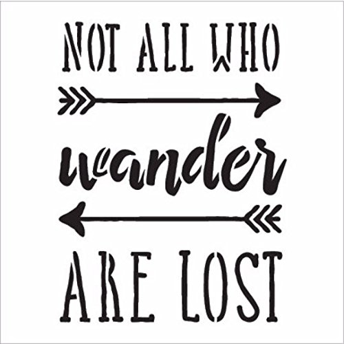 """Not All Who Wander Word Stencil by StudioR12 