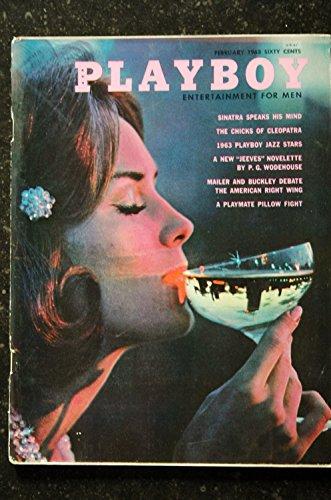 PLAYBOY US 1963 02 FEBRUARY SINATRA CLEOPATRA JAZZ STARS MAILER BUCKLEY -