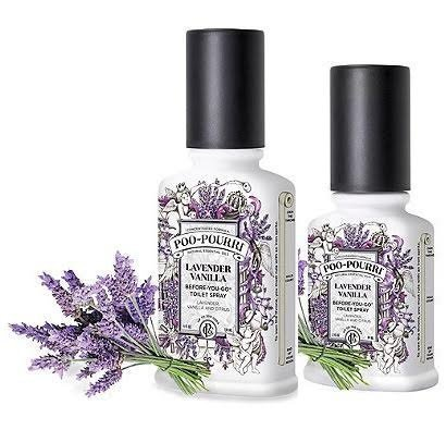 Poo-Pourri Preventive Bathroom Odor Spray 2-Piece Set, Includes 2-Ounce and 4-Ounce Bottle, Lavender Vanilla - Two Piece Toilet Set