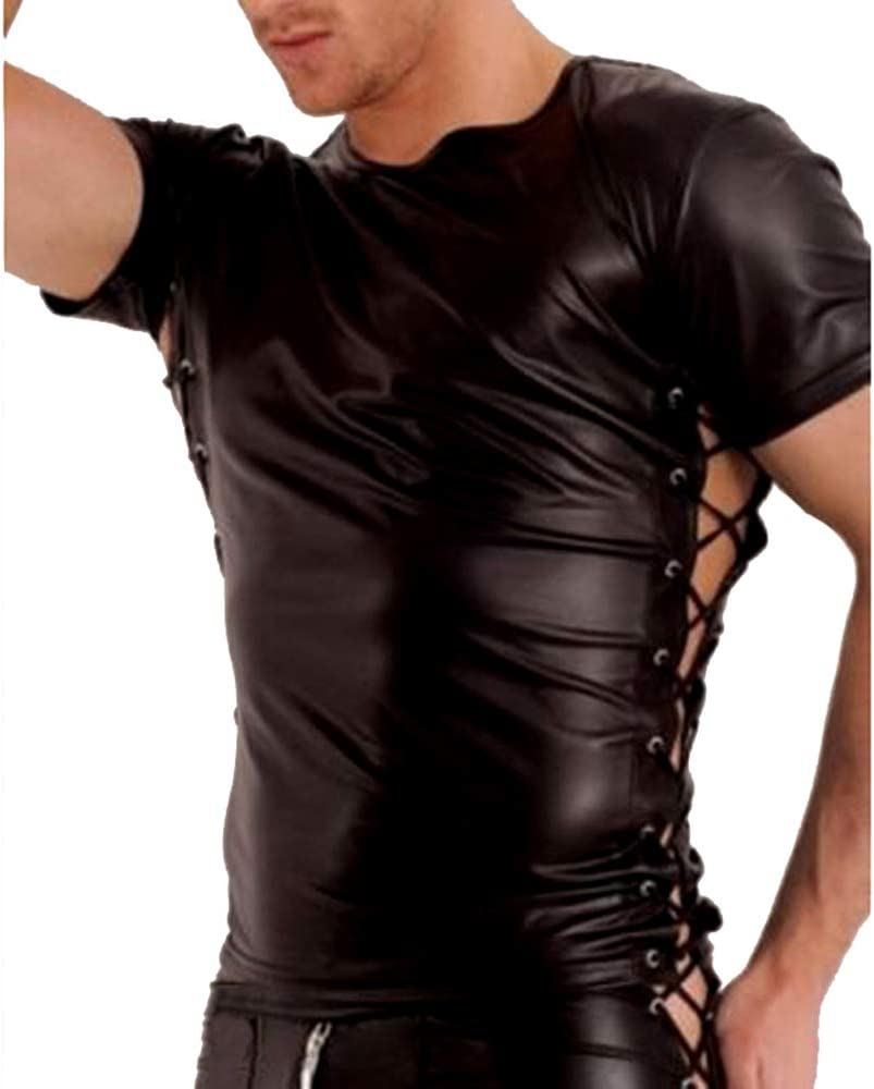 Lencería Hombre Ropa Interior Erótica Top Blusa Transparente Negra Camiseta de Manga Corta para Hombre XXL,XXL: Amazon.es: Deportes y aire libre