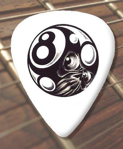 10 x Tattoo Púa Para Guitarra Magic 8 Ball (D33) (Schwer 1.00mm