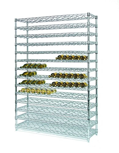 168 Bottle Wine - Tarrison WR1448C7 Chrome Wine Bottle Display Rack, 14 Cradle Shelves, 168 Bottles Capacity, 48