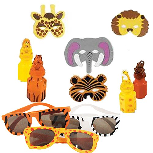 Safari Animal Including Bubbles Sunglasses