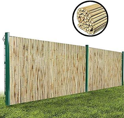 GDMING Protección Visual Valla De Bambú Jardín Y Balcón Pantalla De Privacidad Al Aire Libre Durable A Prueba De La Intemperie Panel con Tubo De Bambú Fijo, 18 Tamaños: Amazon.es: Hogar